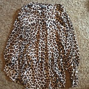 Express Leopard Blouse